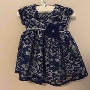 Marmellata blue lace sparkling 6/9 month dress